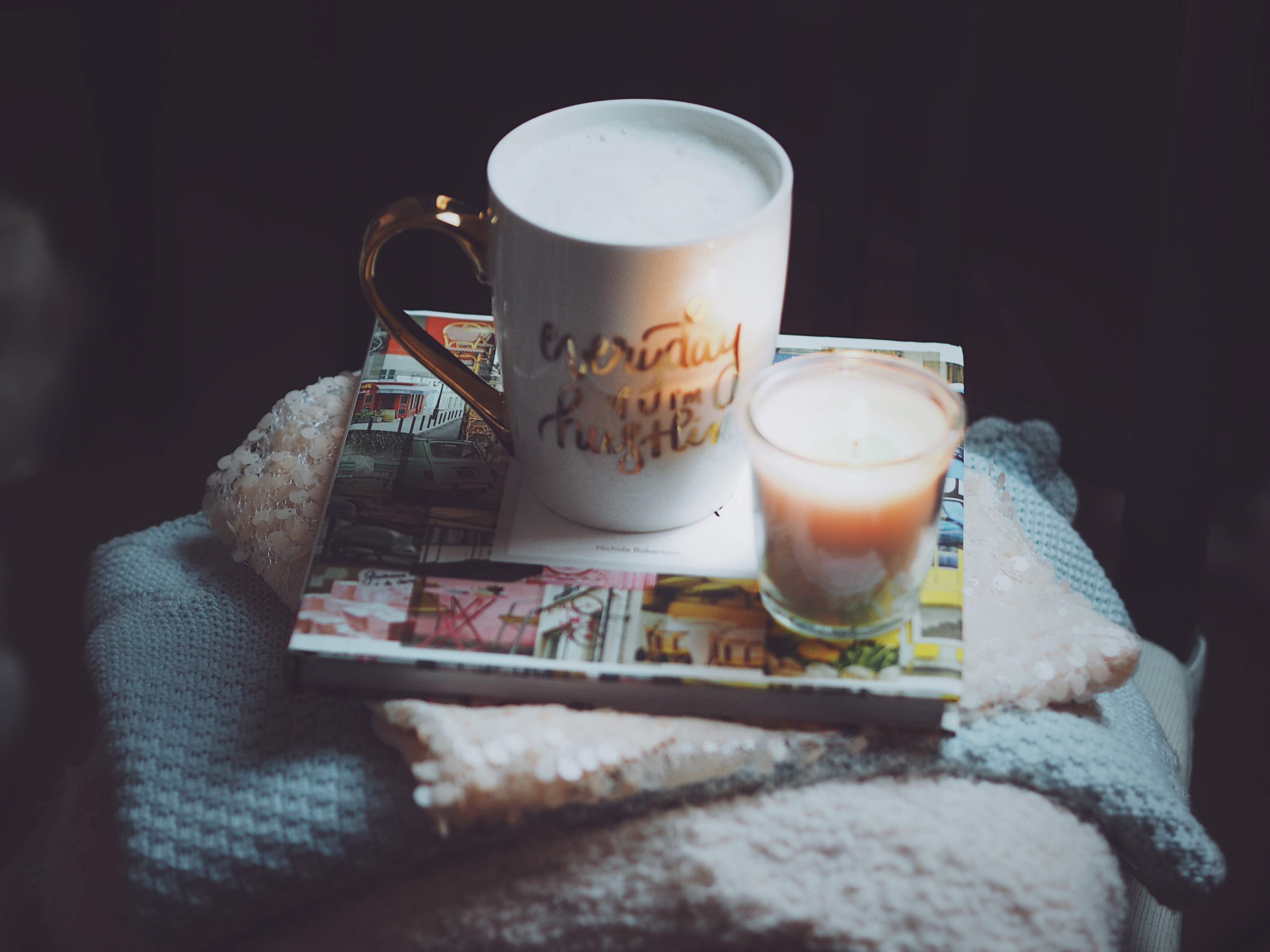 coffee , candle , قهوة ، شمعة، شموع ,candles , winter , cold ، شتا، شتاء،